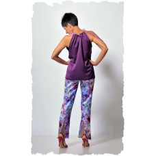 Flowery purple trousers