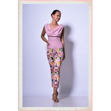 Flowery rose trousers