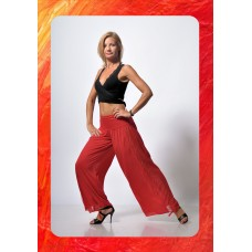 Renda rojo trousers